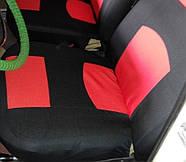 Чехлы сидений Ваз 2107 Красные, фото 4