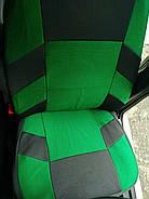 Авточехлы Skoda Fabia (5J) Hatch (цельная) 2007 г зеленые, фото 2