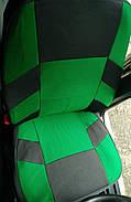 Авточехлы Skoda Fabia (6Y) ComBi/Hatch (цельная) с 2000-07 г зеленые, фото 3
