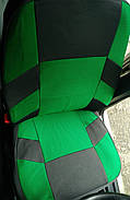 Авточехлы Volkswagen Polo V sedan (раздельн) с 2010 г зеленые, фото 3