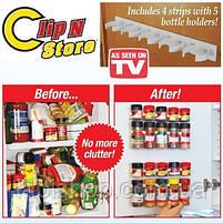 Держатель кухонный органайзер для шкафов и холодильников Clip n Store , фото 2