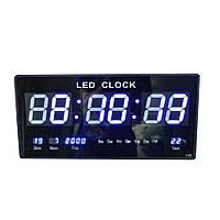 Часы настенные электронные YX-4622 синяя подсветка