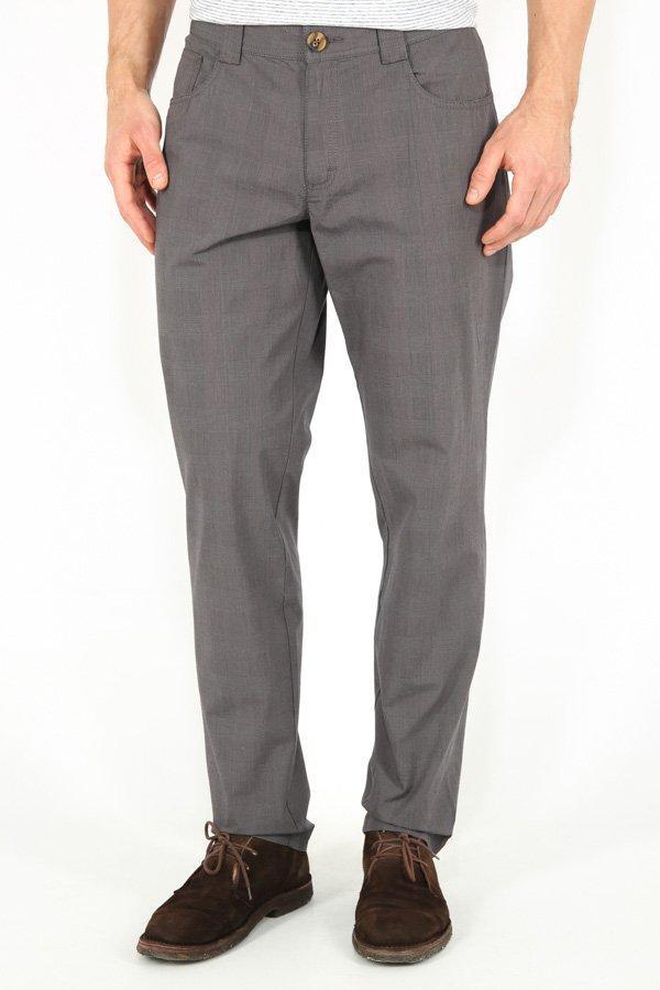 Мужские брюки классические прямые коричневые Finn Flare B17-22014-202