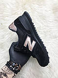 Женские кроссовки New Balance 574 Black Bronze, кроссовки нью беленс 574 (36,38 размеры в наличии), фото 3
