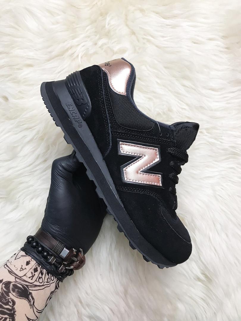 Женские кроссовки New Balance 574 Black Bronze, кроссовки нью беленс 574 (36,38 размеры в наличии)