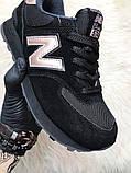 Женские кроссовки New Balance 574 Black Bronze, кроссовки нью беленс 574 (36,38 размеры в наличии), фото 4