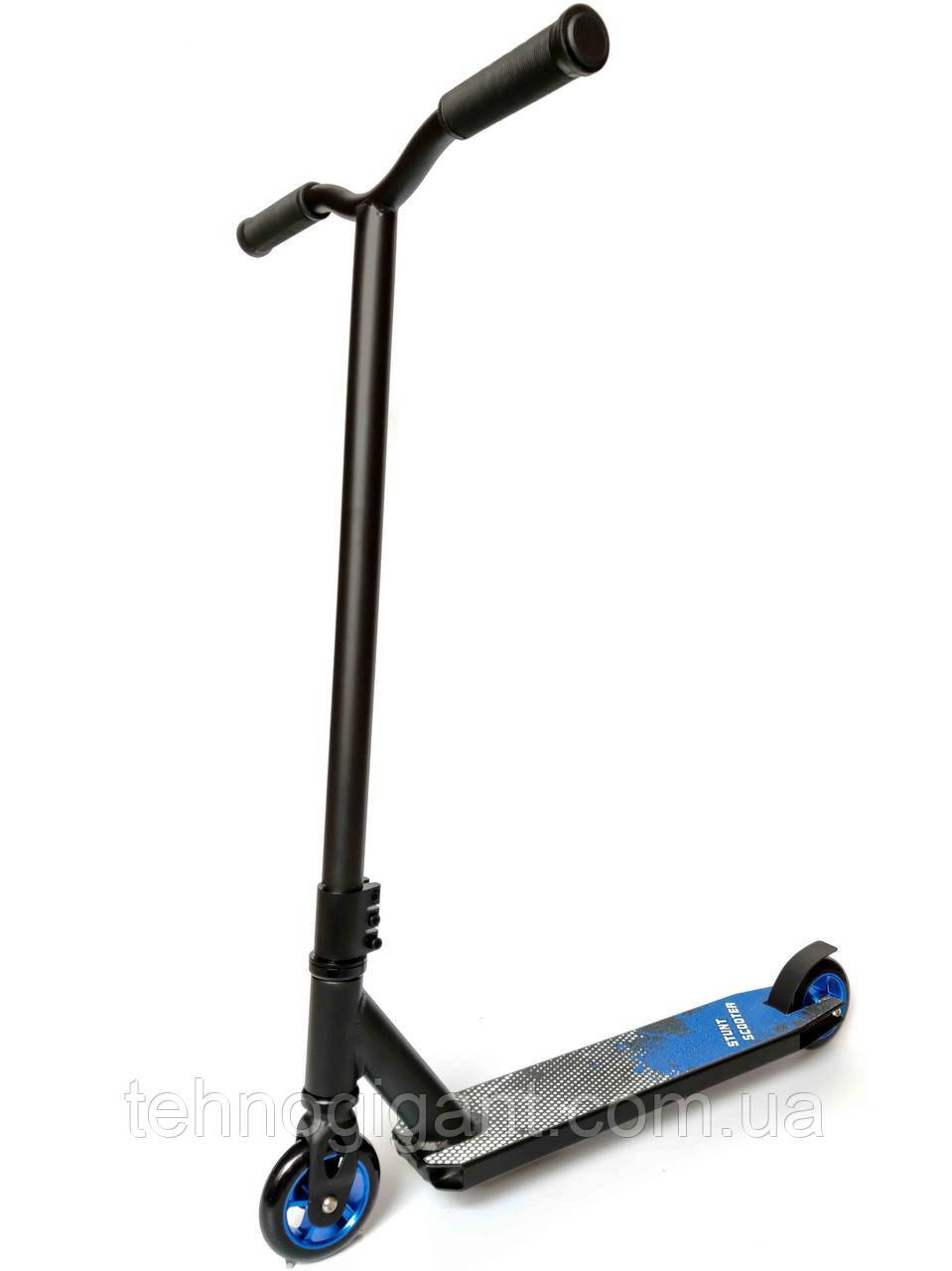 Трюковый Самокат детский от Stunt HIC , 100 мм Черный , колеса алюминий/полиуретан