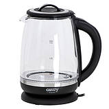 Стеклянный чайник  с заварным блоком и регулятором температуры Camry CR 1290, фото 3