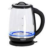 Стеклянный чайник  с заварным блоком и регулятором температуры Camry CR 1290, фото 7