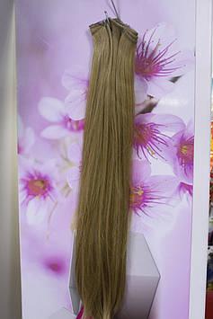 Волосы искусственные термоволокно на заколках прямые золотистые
