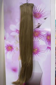 Волосы искусственные термоволокно на заколках прямые русый