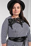 Довге жіноче плаття з широким поясом під шкіру, фото 3