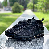 Мужские кроссовки Nike Air VaporMax (Вапормакс) Plus Tn All Black, фото 2