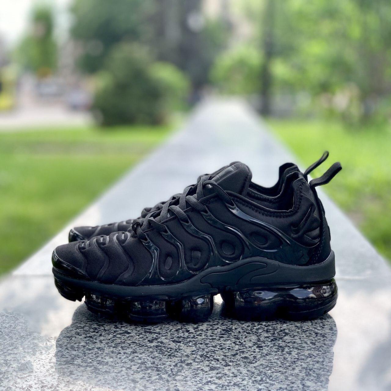 Мужские кроссовки Nike Air VaporMax (Вапормакс) Plus Tn All Black