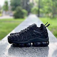 Мужские кроссовки Nike Air VaporMax (Вапормакс) Plus Tn All Black, фото 1