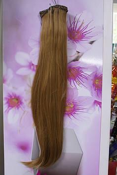 Волосся штучне термоволокно на заколках прямі темно золотистий