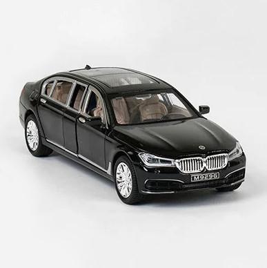 Машинка металлическая EL 7845 ТК Group М1:24 BMW 750 с открывающимися дверями, (2 цвета), свет, звук