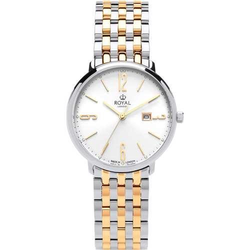 Женские водонепроницаемые наручные часы Royal London 21413-03 кварцевые