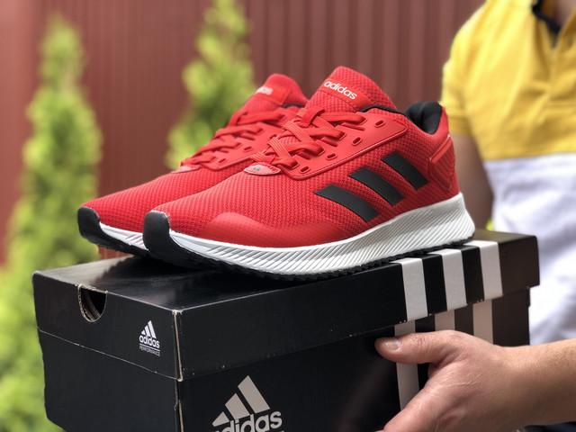 Мужские кроссовки красно-белые летние сетка Adidas, реплика