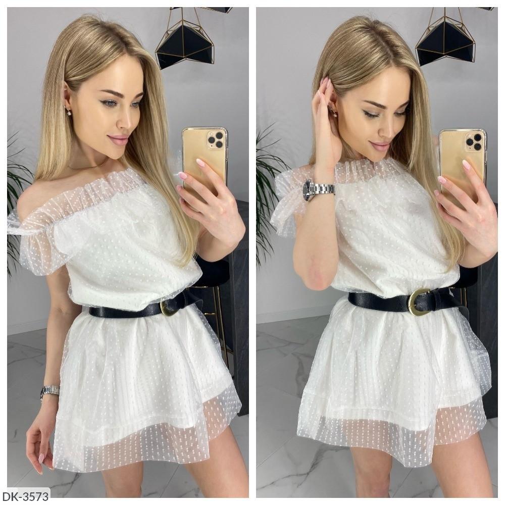 Женское нарядное короткое платье сетка
