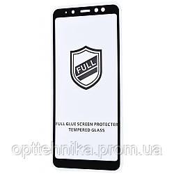 Защитное стекло Full Glue HQ Samsung Galaxy A8 Plus 2018 (A730F) без упаковки black