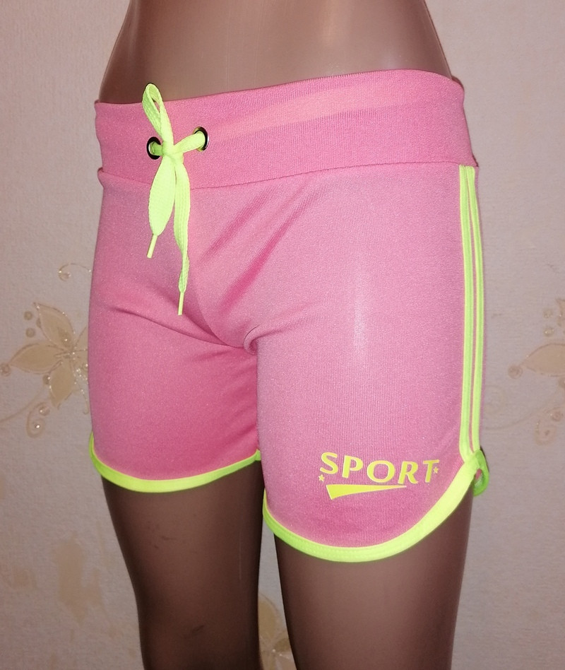 Летние женские спортивные шортики из трикотажа. Размер S, М