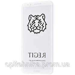 Защитное стекло Full Glue TIGER Huawei Y7 Prime 2018/7C Pro/Enjoy 8 без упаковки white