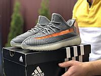 Мужские кроссовки Adidas Yeezy Boost 350 (серые) - 9418