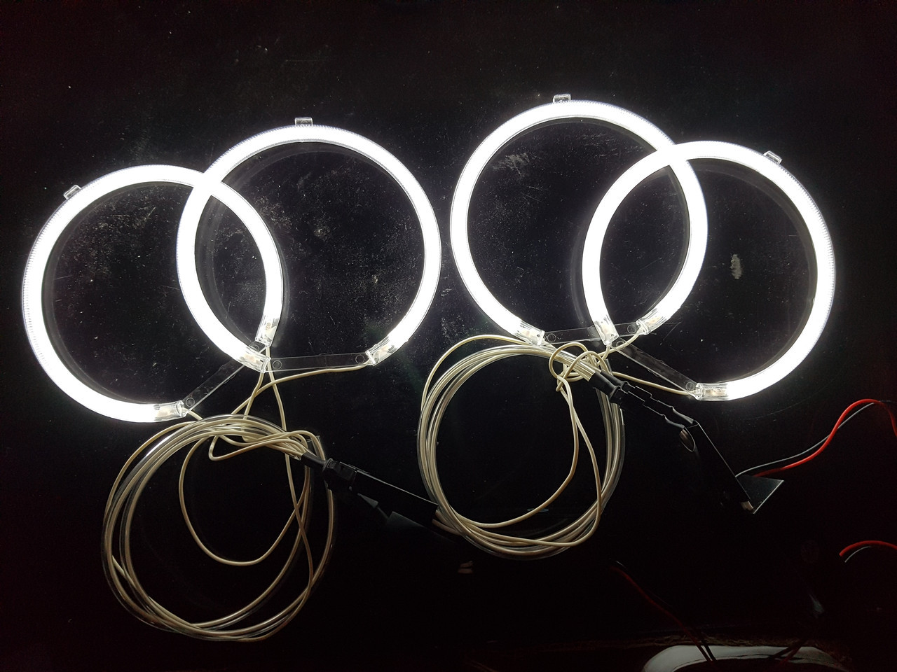 Ангельські очки (4*127.5 мм ) CCFL для BMW E34 білі