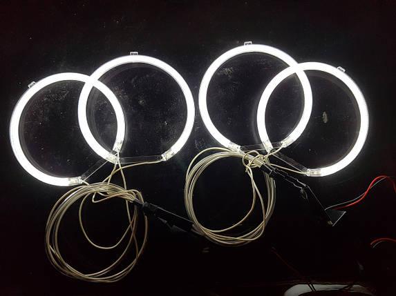 Ангельські очки (4*127.5 мм ) CCFL для BMW E34 білі, фото 2