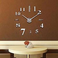 Большие 3Д часы на стену 50-90 см Original 3D DIY Clock Слова