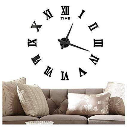 Большие настенные 3Д часы 50-90 см Original 3D DIY Clock Римские, фото 2
