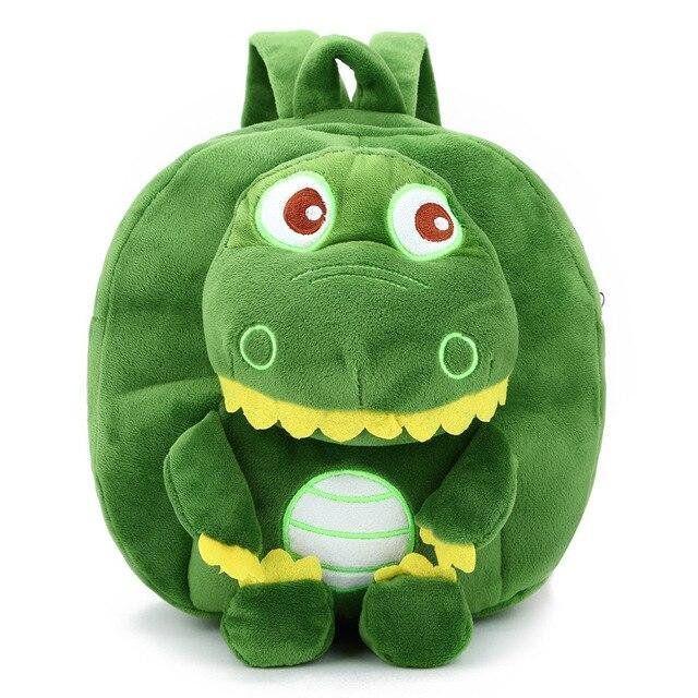 Детский плюшевый рюкзак для девочки / мальчика в садик Крокодил