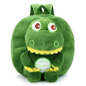 Детский плюшевый рюкзак для девочки / мальчика в садик Крокодил, фото 2