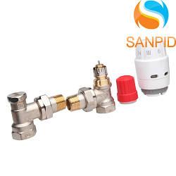 Термостатичний комплект кутовий Danfoss RAS-C2 + RA-FN + RLV (013G2219)