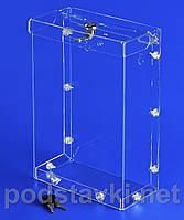 Ящик для благотворительности Акционный ящик объемом 6 литров, акрил 1.8 мм