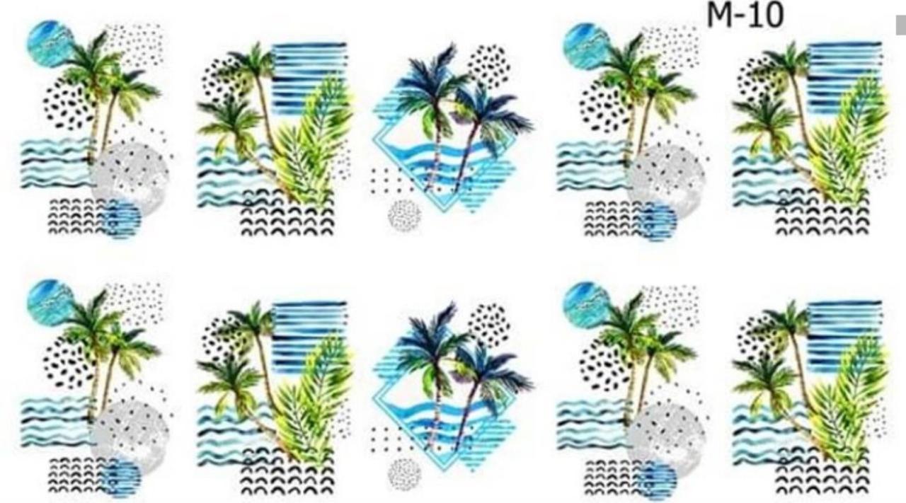 Водные наклейки (слайдер дизайн) для ногтей М-10