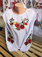 Вышитая блуза вышиванка с длинным рукавом