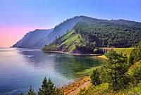Обои-картина украшение стены/ Фото обои на стену Горы, лес, озеро/Печать на холсте