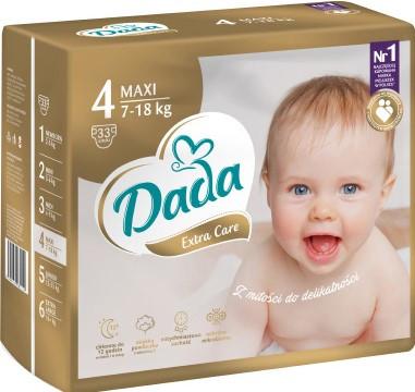 Памперсы Дада Dada Extra Care 4 ( 7 - 18 кг ) 33шт. НОВИНКА!