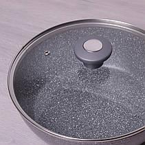Сотейник 24 см з литого алюмінію Kamille з гранітним покриттям і кришкою для індукції, фото 2