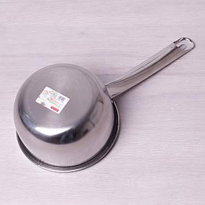 Ковш из нержавеющей стали 1,5 л без крышки Kamille для индукции, фото 2