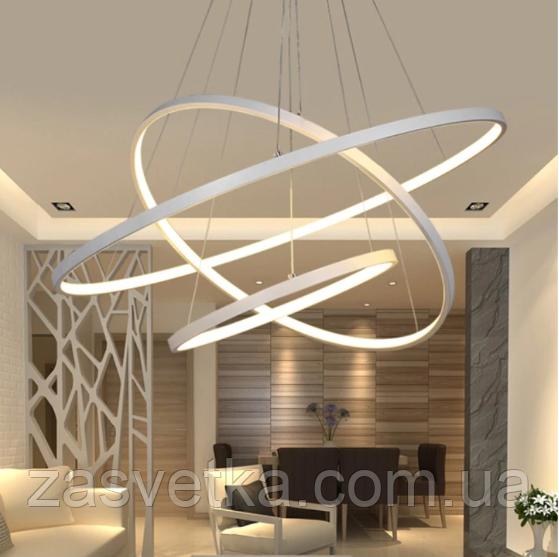 LED люстра подвес кольца с диммером, 150W MD7990-3WH-800+600+400 dimmer