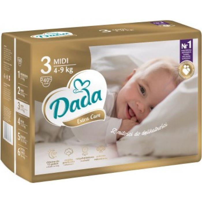 Памперсы Дада Dada Extra Care 3 ( 4 - 9 кг ) 40 шт. НОВИНКА!