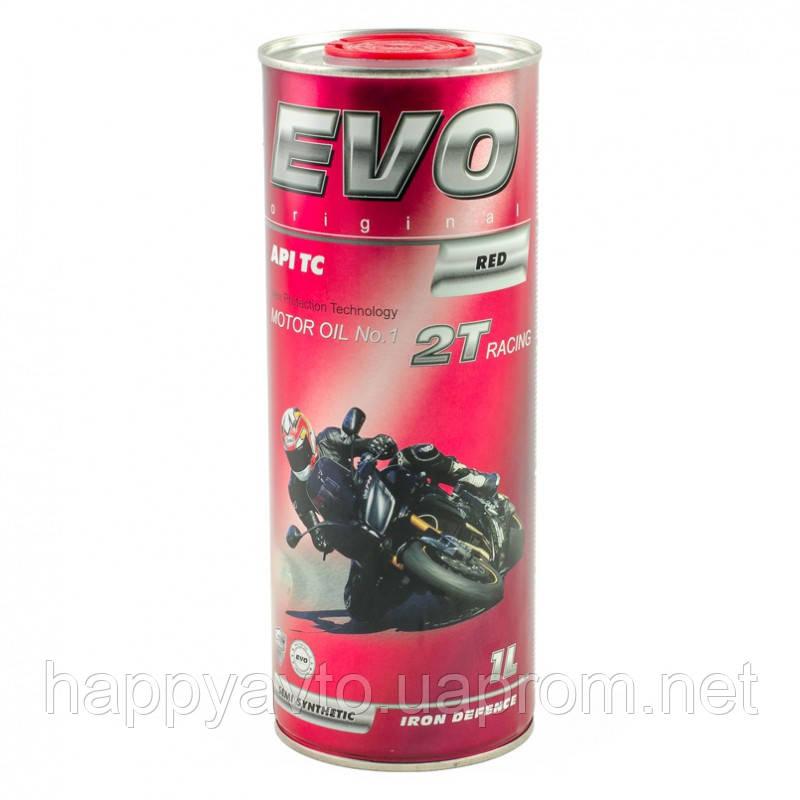 Масло для мотоциклов EVO MOTO 2T RACING (1 литр) - HappyAvto в Киеве