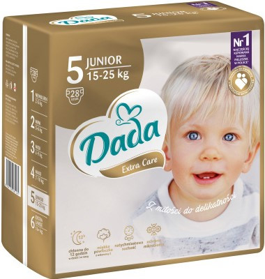 Памперсы Дада Dada Extra Care 5 ( 15 - 25 кг ) 28 шт. НОВИНКА!