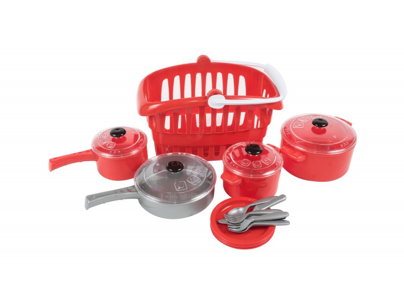 Набор игрушечной посуды в корзинке Кристинка,   Орион  158