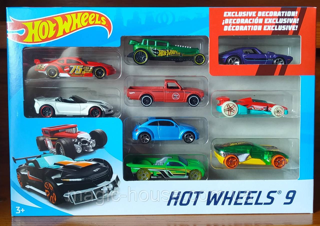 Хот Вілс Набір з 9 машинок Hot Wheels 9 Car Pack
