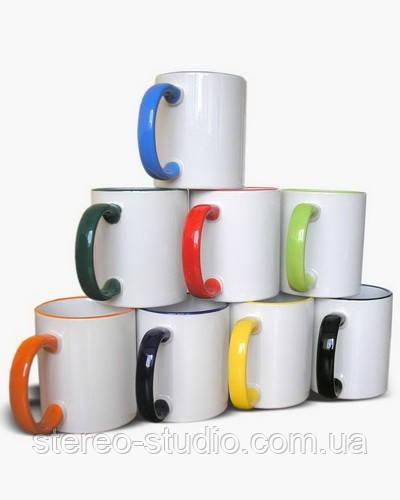 Печать на чашке с цветной ручкой