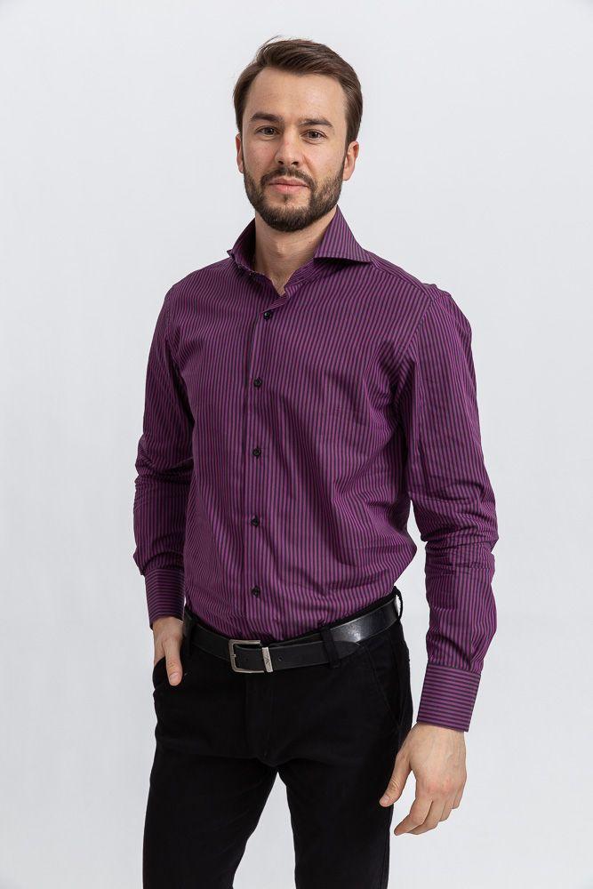 Рубашка 113RPia67 цвет Фиолетово-черный